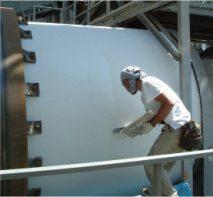 放熱防止・火傷防止対策、高温設備や工場のドライヤーの外壁に塗布